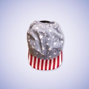 American Flag Stars and Stripes Short Brim Hat